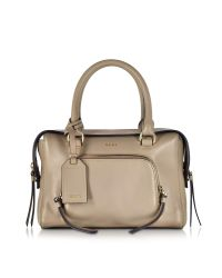 DKNY - Natural Greenwich Leather Small Satchel Bag - Lyst