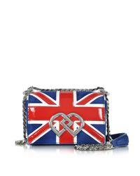 DSquared²   Blue Dd British Flag Suede & Patent Leather Mini Shoulder Bag   Lyst