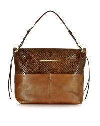 Francesco Biasia Multicolor Creola Large Woven Leather Shoulder Bag