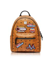 MCM - Brown Small Cognac Victory Patch Visetos Stark Backpack - Lyst