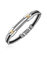 Forzieri - Multicolor Men's Stainless Steel And Rubber Screws Bracelet for Men - Lyst