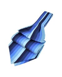 FORZIERI - Blue Vertical Stripe Tone On Tone Woven Silk Ascot for Men - Lyst