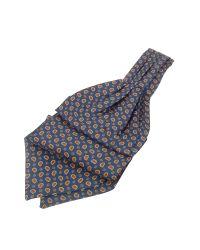 FORZIERI | Blue Mini Paisley Print Twill Silk Ascot for Men | Lyst