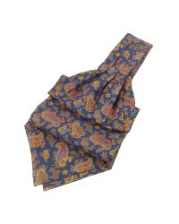 FORZIERI | Blue Paisley Print Twill Silk Ascot for Men | Lyst