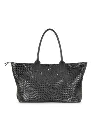 FORZIERI | Large Black Woven Leather Tote | Lyst