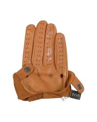 FORZIERI | Brown Men's Tan Italian Leather Driving Gloves for Men | Lyst