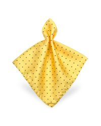 FORZIERI | Yellow Polkadot Twill Silk Pocket Square for Men | Lyst