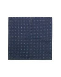 FORZIERI - Black Polkadot Twill Silk Pocket Square for Men - Lyst