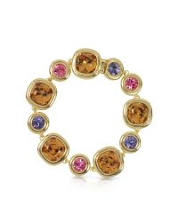 FORZIERI - Purple, Pink And Orcher Crystals Bracelet - Lyst