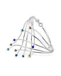 FORZIERI | Metallic Fireworks Glass Stones Sterling Silver Cuff Bracelet | Lyst