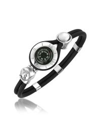 FORZIERI | Metallic Compass Stainless Steel And Rubber Bracelet | Lyst