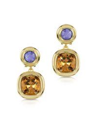 Forzieri | Purple And Orange Crystal Earrings | Lyst