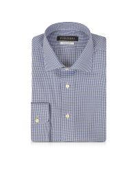 FORZIERI - Blue & White Micro Checked Non Iron Cotton Men's Shirt for Men - Lyst