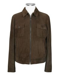 FORZIERI - Brown Four-pocket Leather Zip Jacket for Men - Lyst