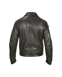 FORZIERI - Men's Black Genuine Leather Motorcycle Jacket for Men - Lyst