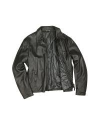FORZIERI - Men's Black Leather Zip Jacket for Men - Lyst