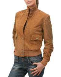 FORZIERI | Brown Women's Tan Italian Suede Two-pocket Jacket | Lyst
