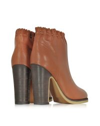 See By Chloé - Brown Jane Rust Leather Ankle Boot - Lyst