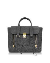 3.1 Phillip Lim | Gray Pashli Ash And Charcoal Leather Medium Satchel | Lyst