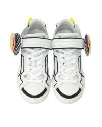 Pierre Hardy - Women's Multicolor Leather Sneakers - Lyst