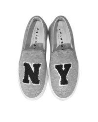 Joshua Sanders - Gray Grey Jersey Ny Slip-on Sneaker - Lyst
