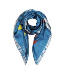Jimmy Choo | Blue Shoes And Signature Printed Silk Square Scarf | Lyst