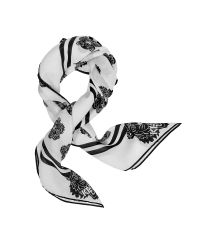 KENZO | White Tiger Printed Cotton And Silk Square Scarf | Lyst