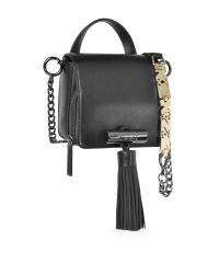 KENZO - Sailor Black Leather Crossbody Bag W/rubber Tassel - Lyst