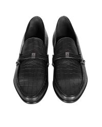 Loriblu - Black Croco Print Leather Moccasin for Men - Lyst