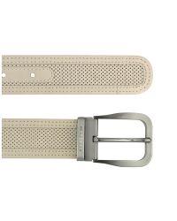 Moreschi | Natural Men's Beige Perforated Leather Belt for Men | Lyst