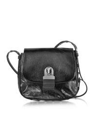 MM6 by Maison Martin Margiela | Black Cracked Leather Shoulder Bag | Lyst