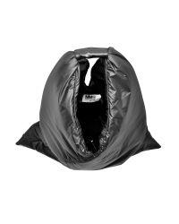 MM6 by Maison Martin Margiela Black Nylon Puffy Triangle Shoulder Bag