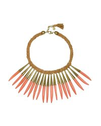 Antik Batik | Pink Noli Leather And Metal Necklace | Lyst