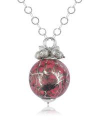 Naoto - Metallic Alchimia - Sterling Silver Fuchsia Pendant Necklace - Lyst