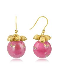 Naoto - Pink Alchimia - Round Gold Foil Drop Earrings - Lyst