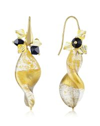Naoto | Metallic Gold Foil Drop Earrings | Lyst