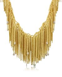 Orlando Orlandini | Metallic Flirt - Diamond Drops 18k Yellow Gold Thread Necklace | Lyst
