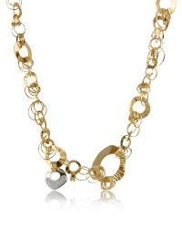 Orlando Orlandini | Pink Fashion - Diamond 18k Rose Gold Chain Necklace | Lyst
