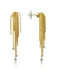 Orlando Orlandini | Metallic Flirt - Diamond Drops 18k Yellow Gold Earrings | Lyst