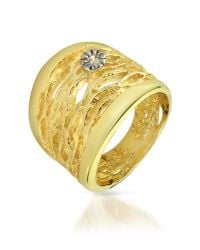 Orlando Orlandini | Metallic Diamond Open-work 18k Yellow Gold Band Ring | Lyst