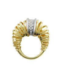 Orlando Orlandini | Metallic Galaxy - Diamond 18k Gold Ring | Lyst