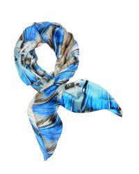 Roberto Cavalli | Blue Phuket Print Stola Scarf | Lyst