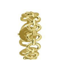 Just Cavalli Gray Sinuous - Goldtone Bracelet Watch