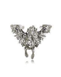 Roberto Cavalli | Metallic Pegaso Old Silver Bracelet | Lyst