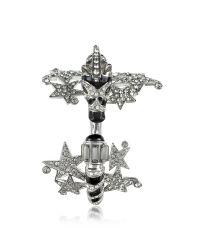 Roberto Cavalli - Black Zebra & Stars Bracelet W/crystals - Lyst