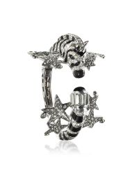 Roberto Cavalli | Black Zebra & Stars Bracelet W/crystals | Lyst