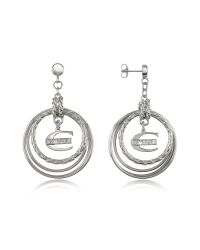 Just Cavalli | Metallic Infinity - Logo Charm Earrings | Lyst