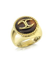 Just Cavalli - Metallic Gold Plated Women's Ring - Lyst