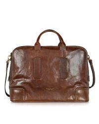 The Bridge - Cosmopolitan Large Brown Leather Weekender Bag for Men - Lyst