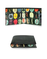 Paul Smith - Black Leather Cycling Caps Print Interior Billfold And Coin Wallet for Men - Lyst